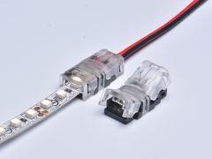 Connector voor 8mm led strips naar kabel
