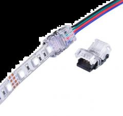 rgb connector ip65 spatwaterdicht voor ledstrip naar kabel