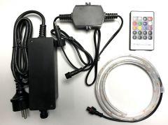 RGB Ledstrip 1 meter - 60 leds - IP68 - COMPLETE SET met afstandsbediening